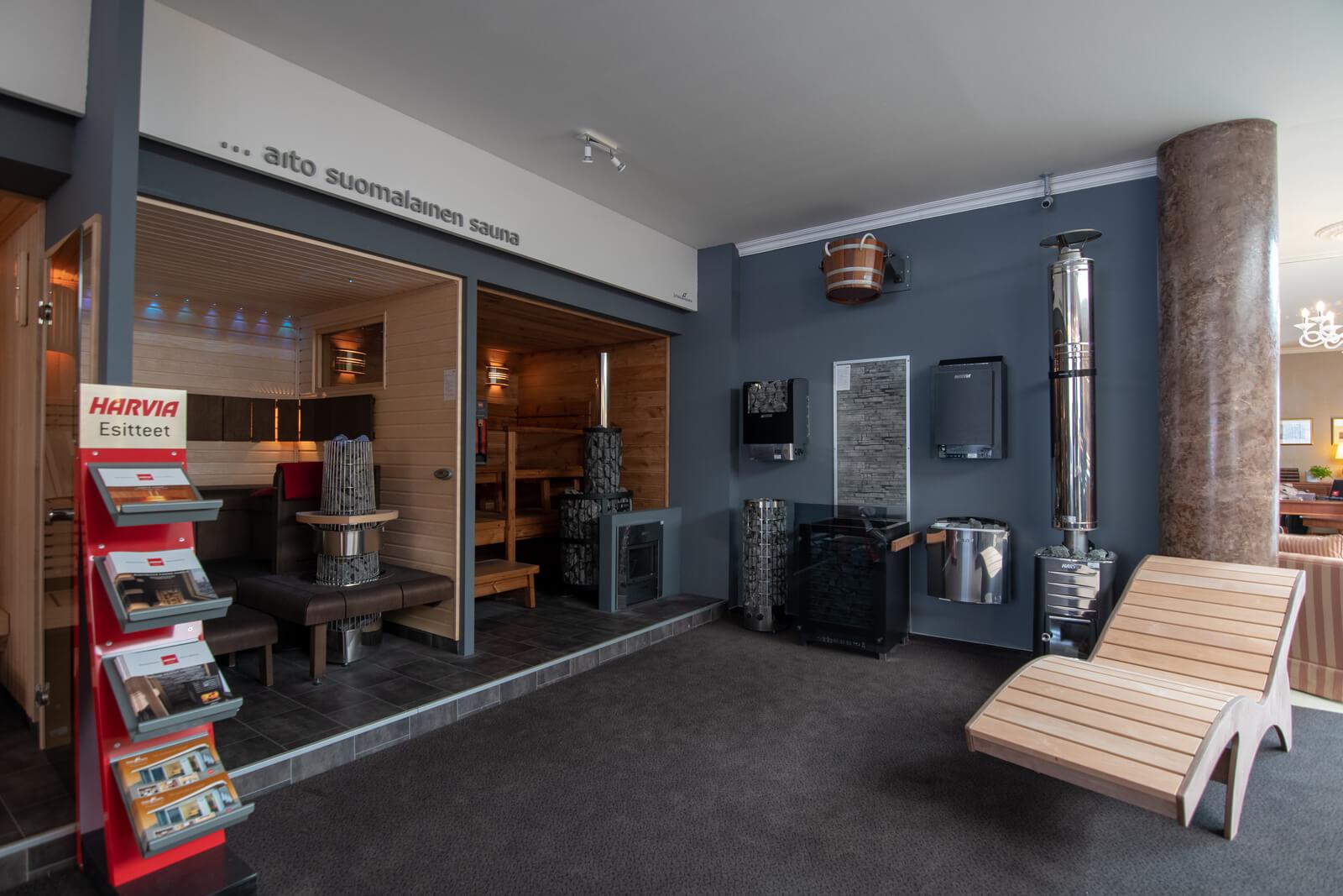 Showroom Finská sauna Galerie MoDo
