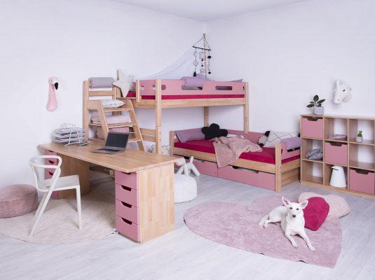 dětský-pokoj-Domino-bubliny-růžová