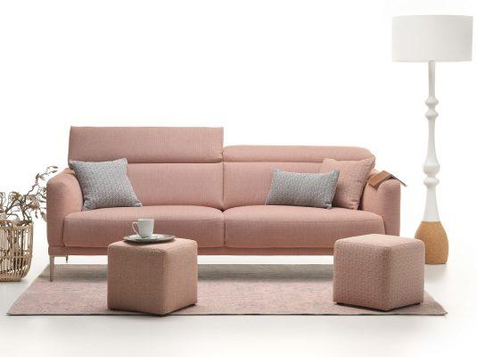 Růžová sedačka Kingston Rivano Rose